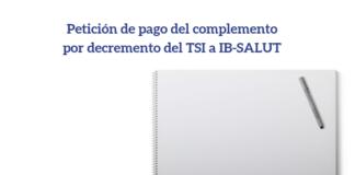 Petición de pago del complemento por decremento del TSI SIMEBAL