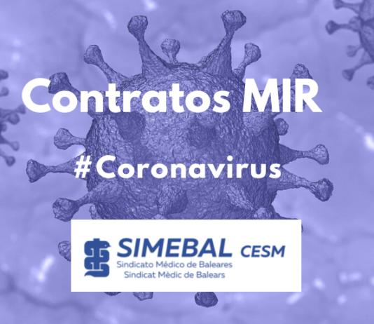 CORONAVIRUS Contratos MIR SIMEBAL