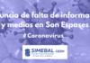 CORONAVIRUS denuncian falta información y medios son espases