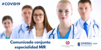 Comunicado COMIB SIMEBAL Especialidad MIR COVID19