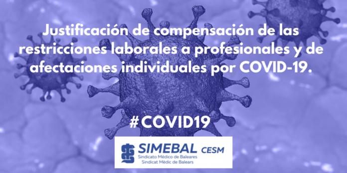 Justificación de compensación de las restricciones laborales a profesionales y de afectaciones individuales por COVID-19.