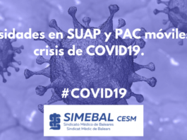 Necesidades en SUAP y PAC móviles en crisis de COVID19
